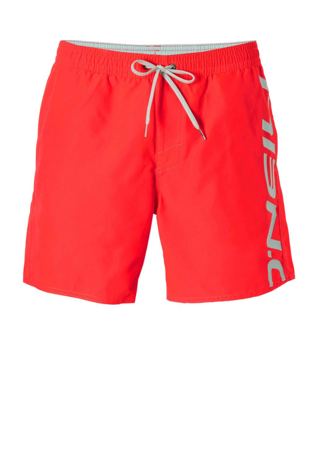 O'Neill zwemshort met merknaam rood, Rood/wit