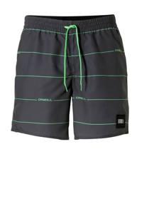 O'Neill zwemshort met strepen grijs, Grijs/groen