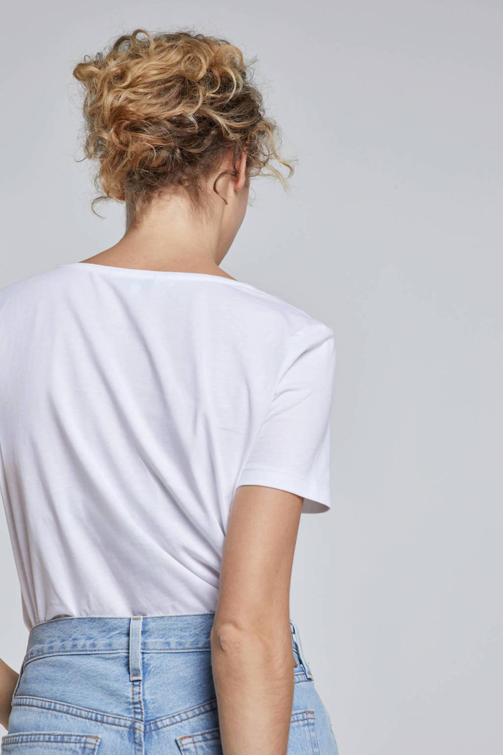 Tommy Hilfiger T-shirt met tekst, wit/ rood