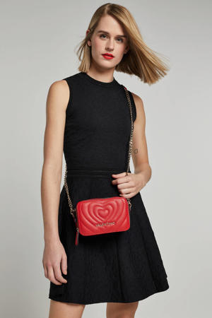Selected By Kate Moss jurk met all over print en textuur zwart