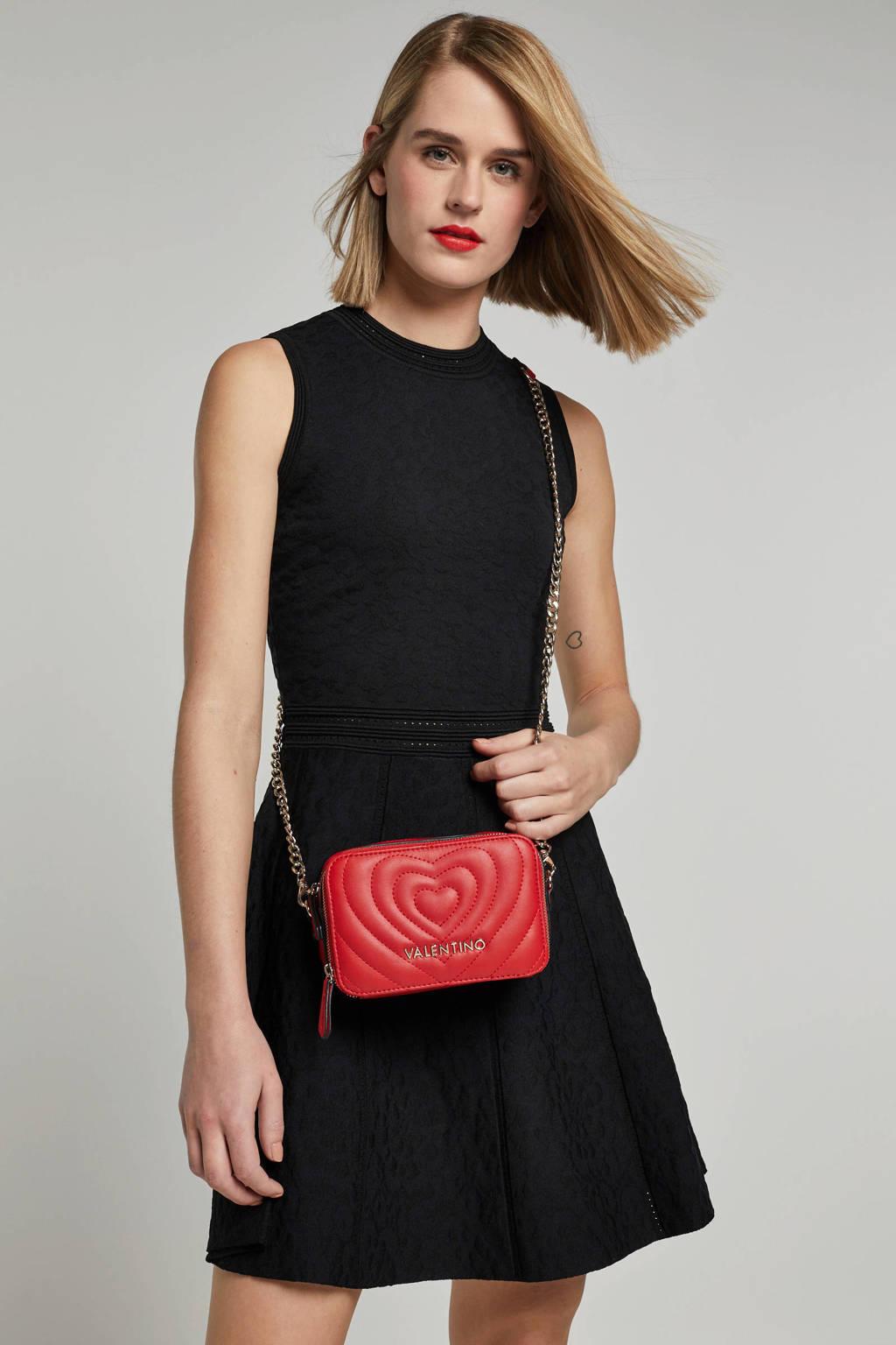 NIKKIE Selected By Kate Moss jurk met all over print, Zwart