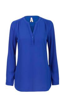 Miss Etam Regulier blouse met plooi details kobaltblauw (dames)