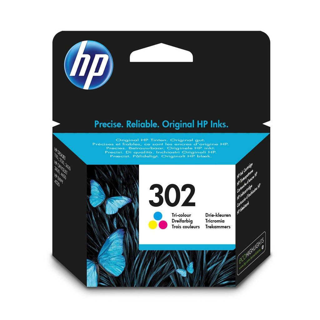 HP HP 302 INK COLOR inktcartridges (kleur), Geel, Cyaan en Magenta