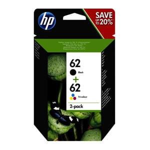 HP 62 INK 2-PACK 2-pack inktcartridge (zwart/kleur)
