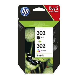 HP 302 INK 2-PAC inkt cartridge 302 2-pack (zwart + kleur)
