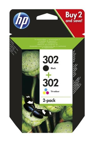 HP 302 INK 2-PAC inkt cartridge 302 2-pack (zwart + kleur)
