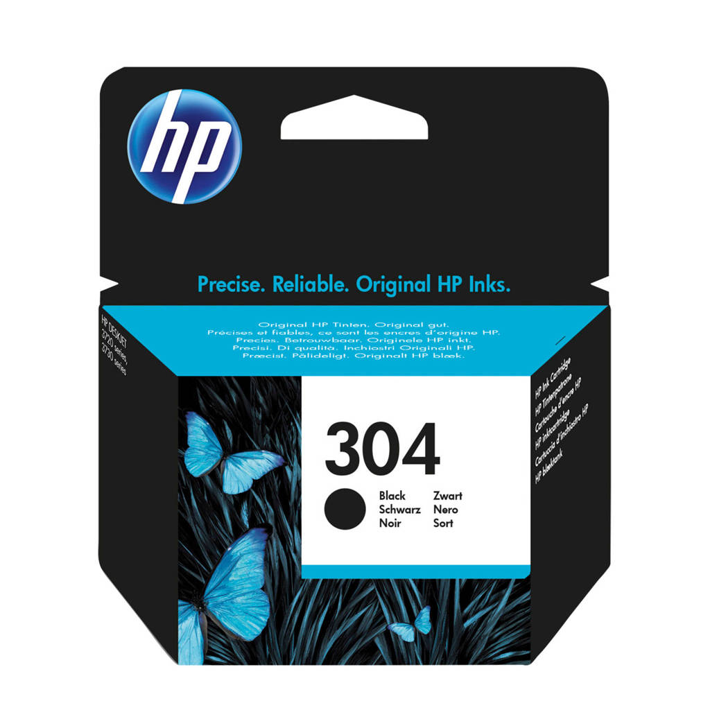 HP HP 304 INK BLACK inktcartridge (zwart), Zwart