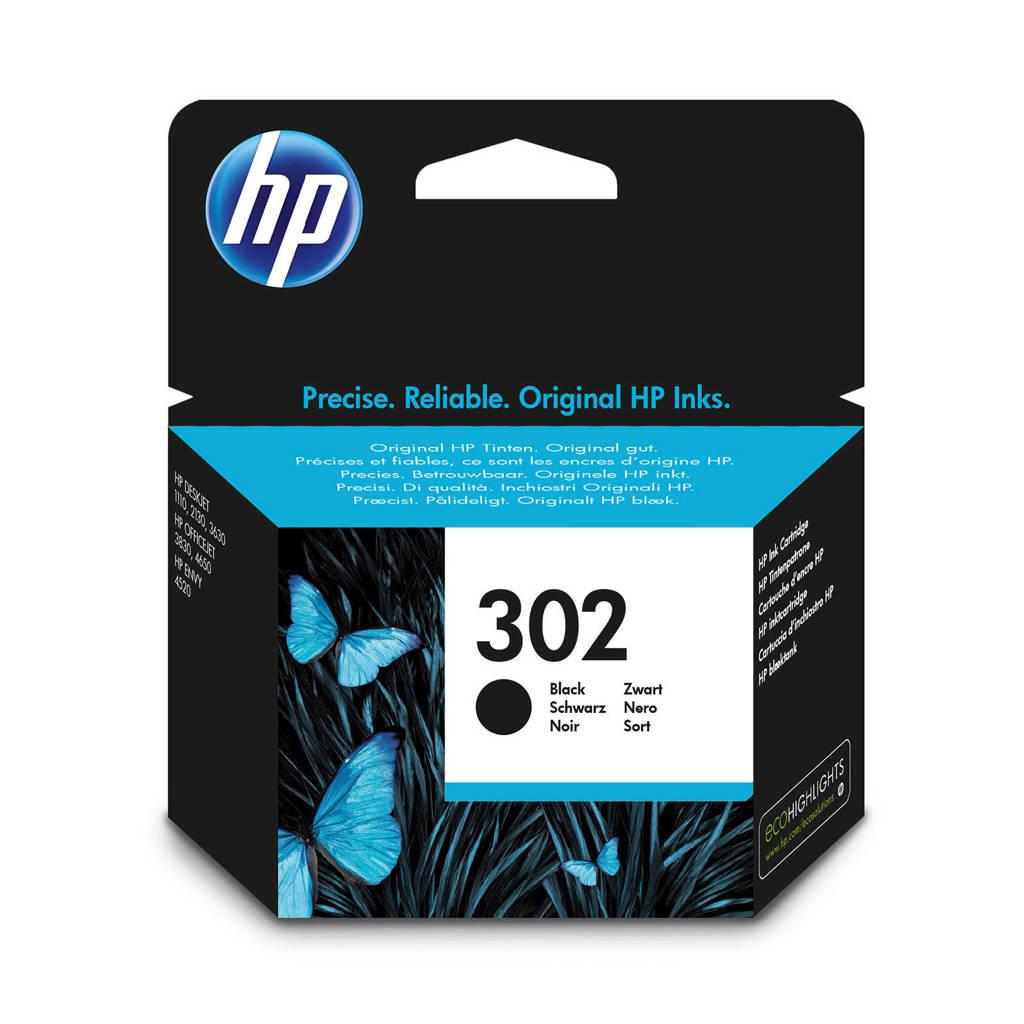HP HP 302 INK BLACK inktcartridges (zwart), Zwart