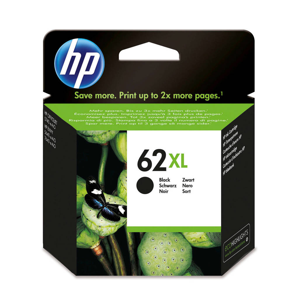 HP HP 62 XL INK BLA inktcartridge (zwart), Zwart