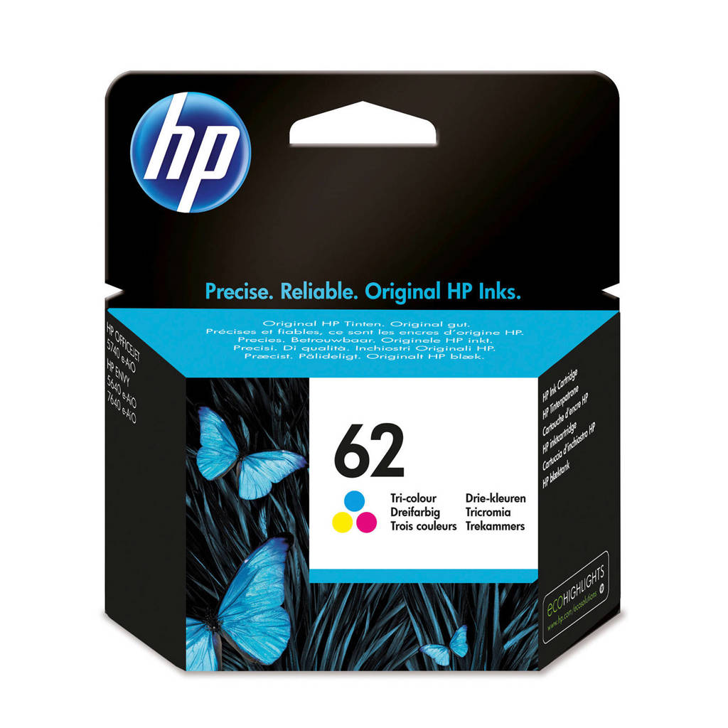 HP HP 62 INK COLOR inktcartridge kleur), Geel, Cyaan en Magenta