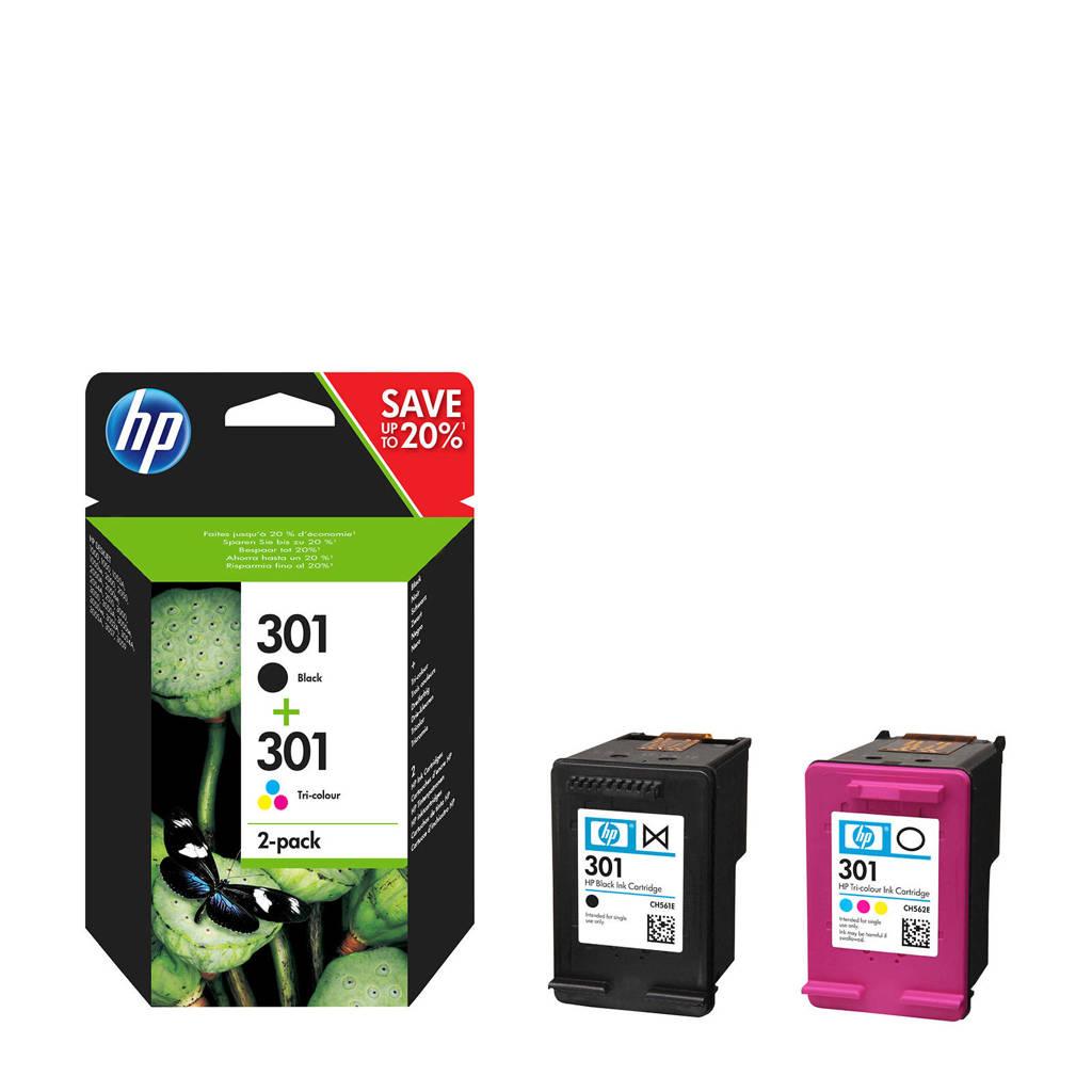 HP HP 301 INK COMBO inktcartridges (kleur), Zwart, Geel, Cyaan en Magenta