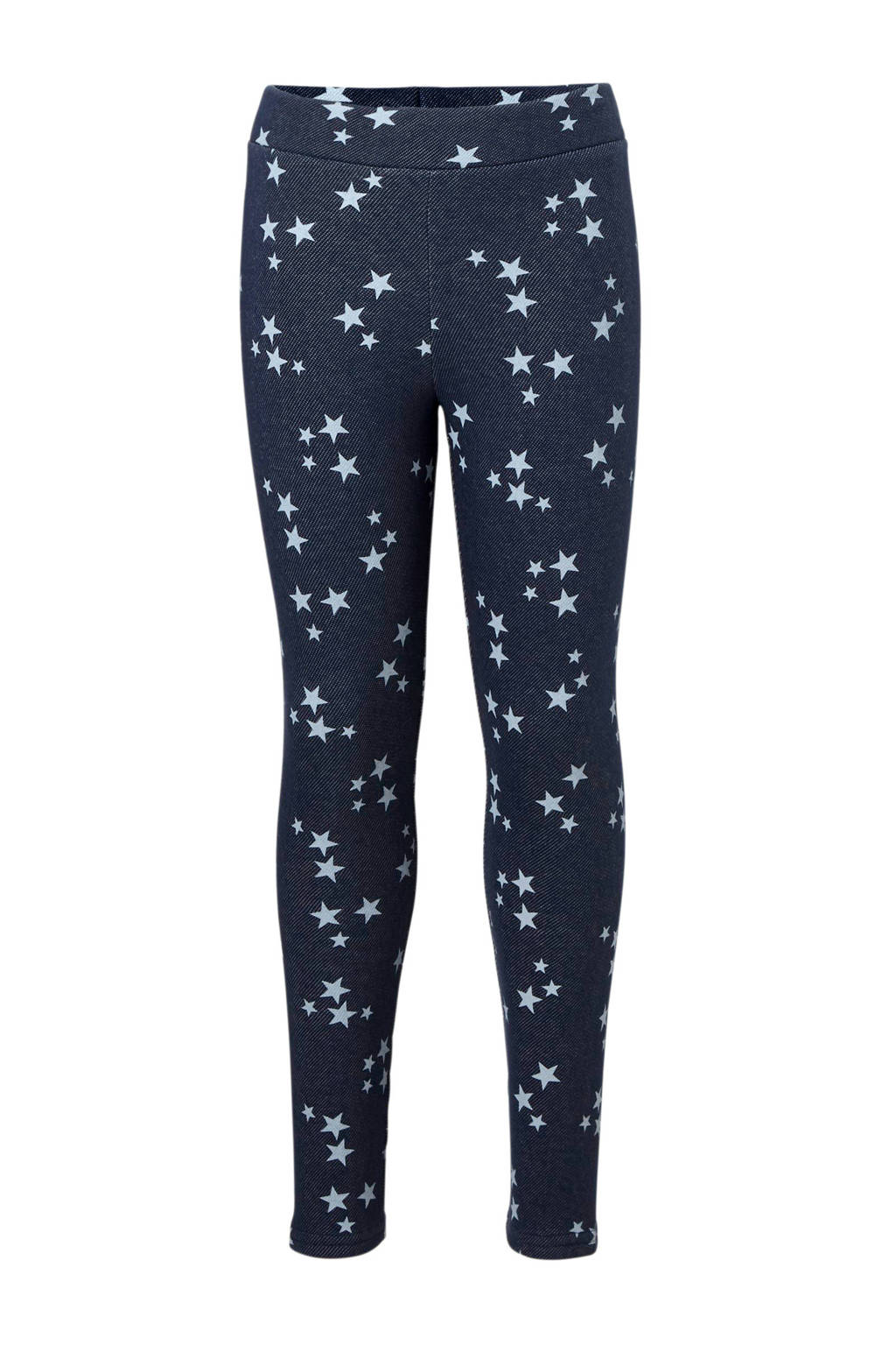 C&A Here & There thermo legging met sterren blauw, Donkerblauw