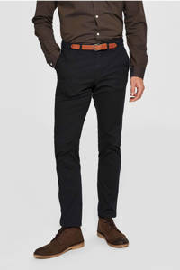 SELECTED HOMME slim fit chino, Zwart