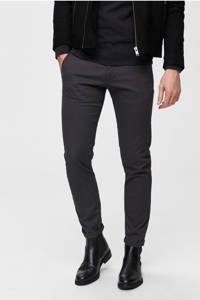 SELECTED HOMME straight fit chino, Donkergrijs