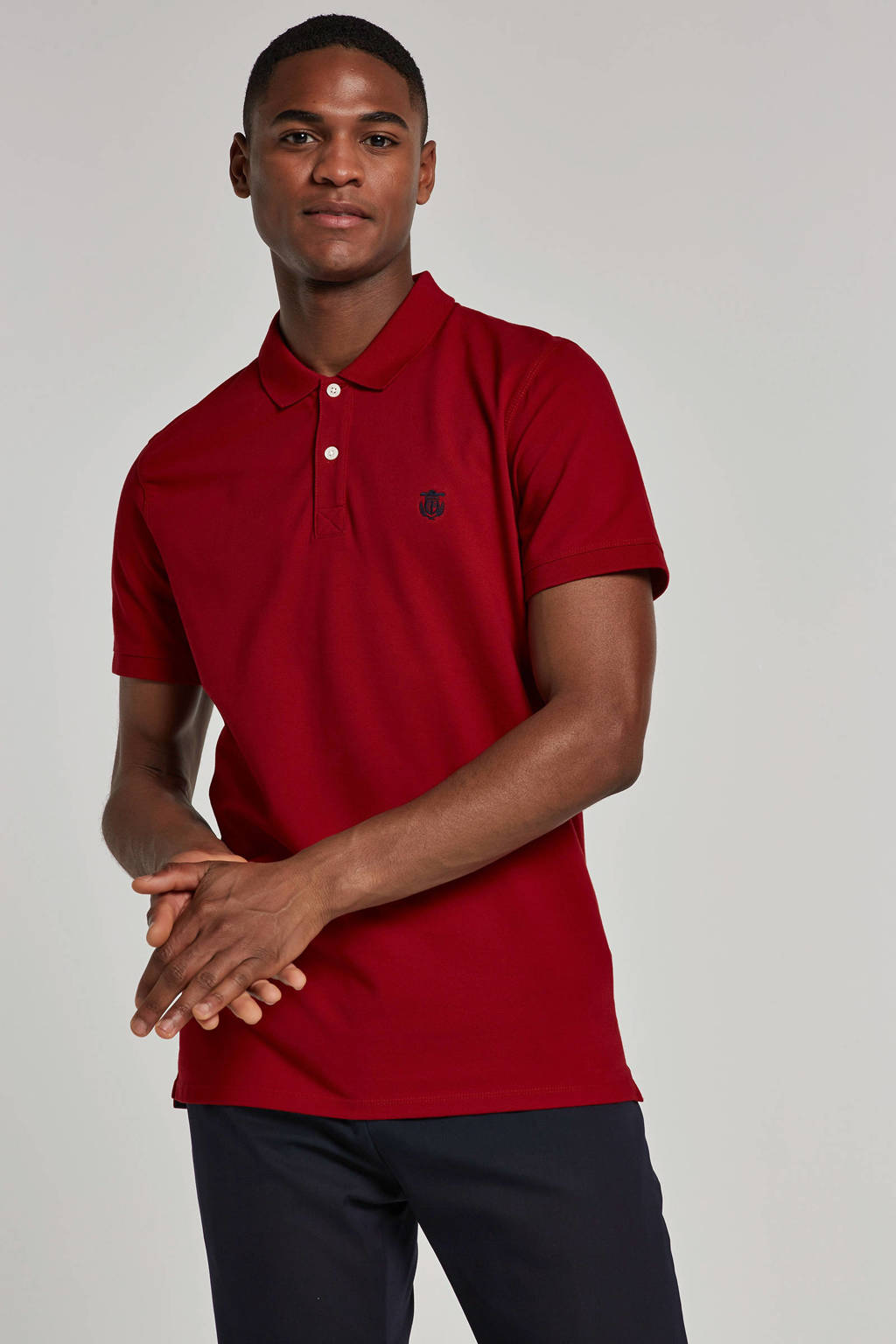 SELECTED HOMME polo korte mouw, Rood