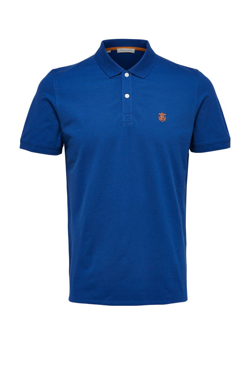 SELECTED HOMME polo korte mouw, Blauw
