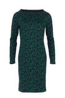 La Ligna jurk met panterprint groen