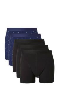 whkmp's own boxershort (set van 5), Zwart/blauw