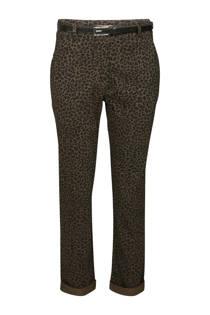 Cassis broek met panterprint kaki