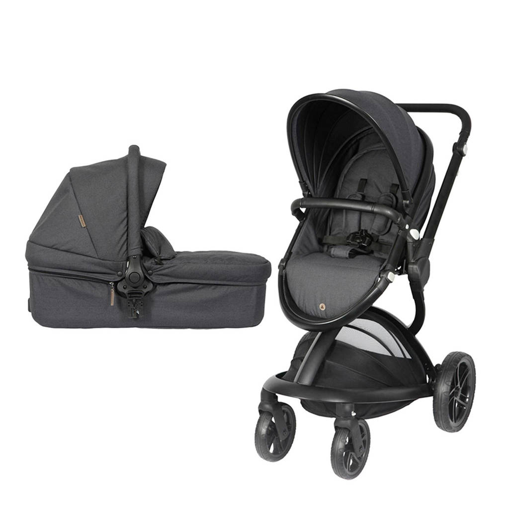 Topmark Dex buggy inclusief reiswieg zwart, Zwart