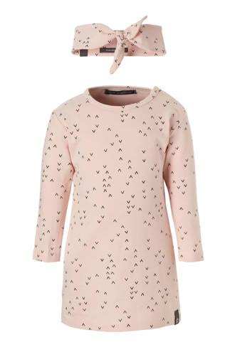 jurk + haarband roze