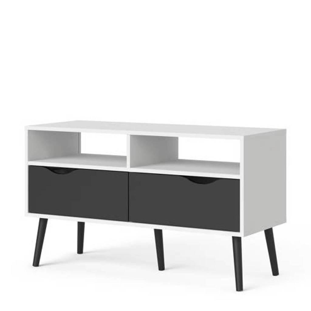 anytime Tv-meubel Oslo, Wit/zwart