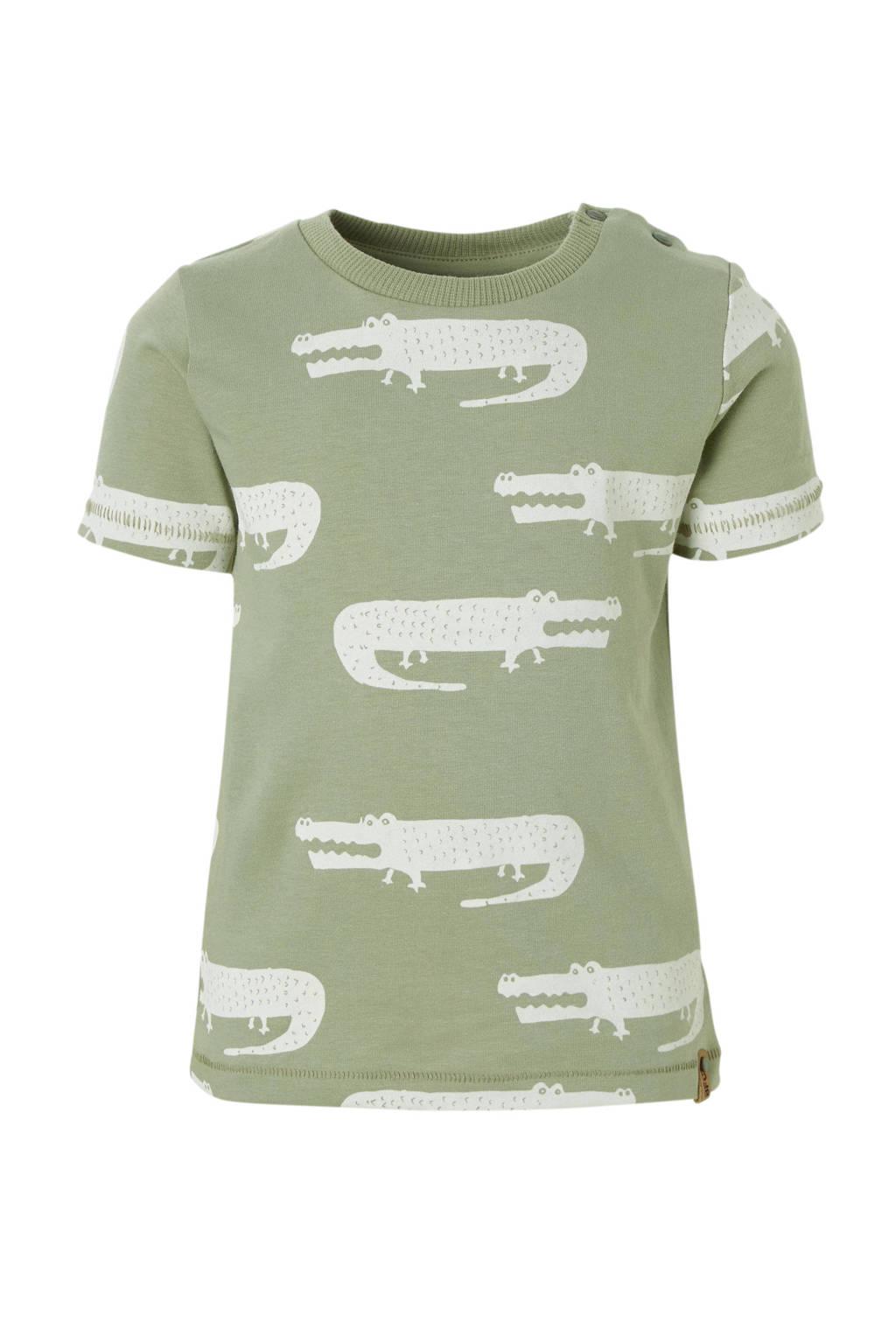 Babyface T-shirt met alloverprint groen, Groen
