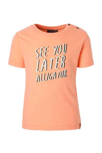 T-shirt met tekst zalm