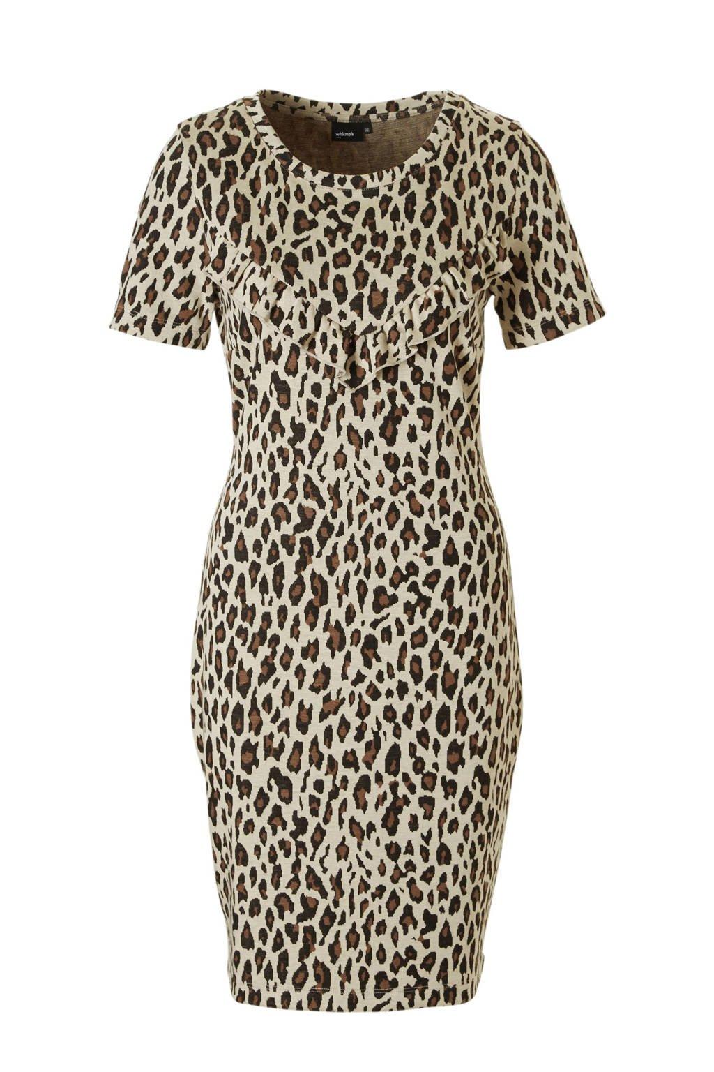 whkmp's own jurk met panterdessin, Beige/bruin