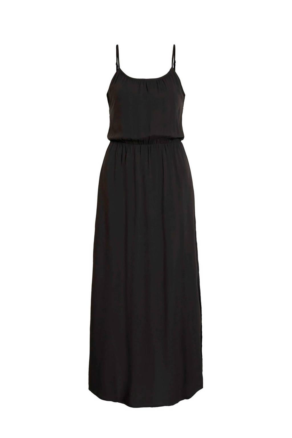 OBJECT maxi jurk met split, Zwart