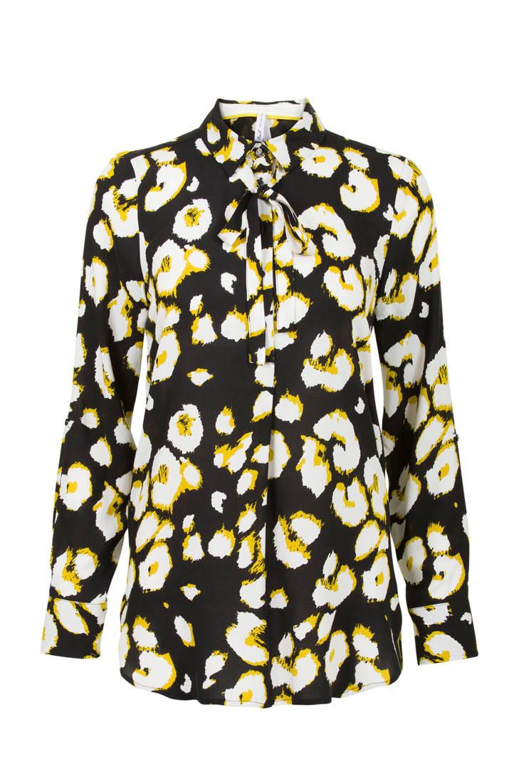 zwart dierenprint Miss blouse met Regulier Etam vxqwHq0Xg