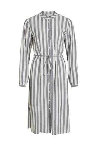 jurk met strepen en bindceintuur