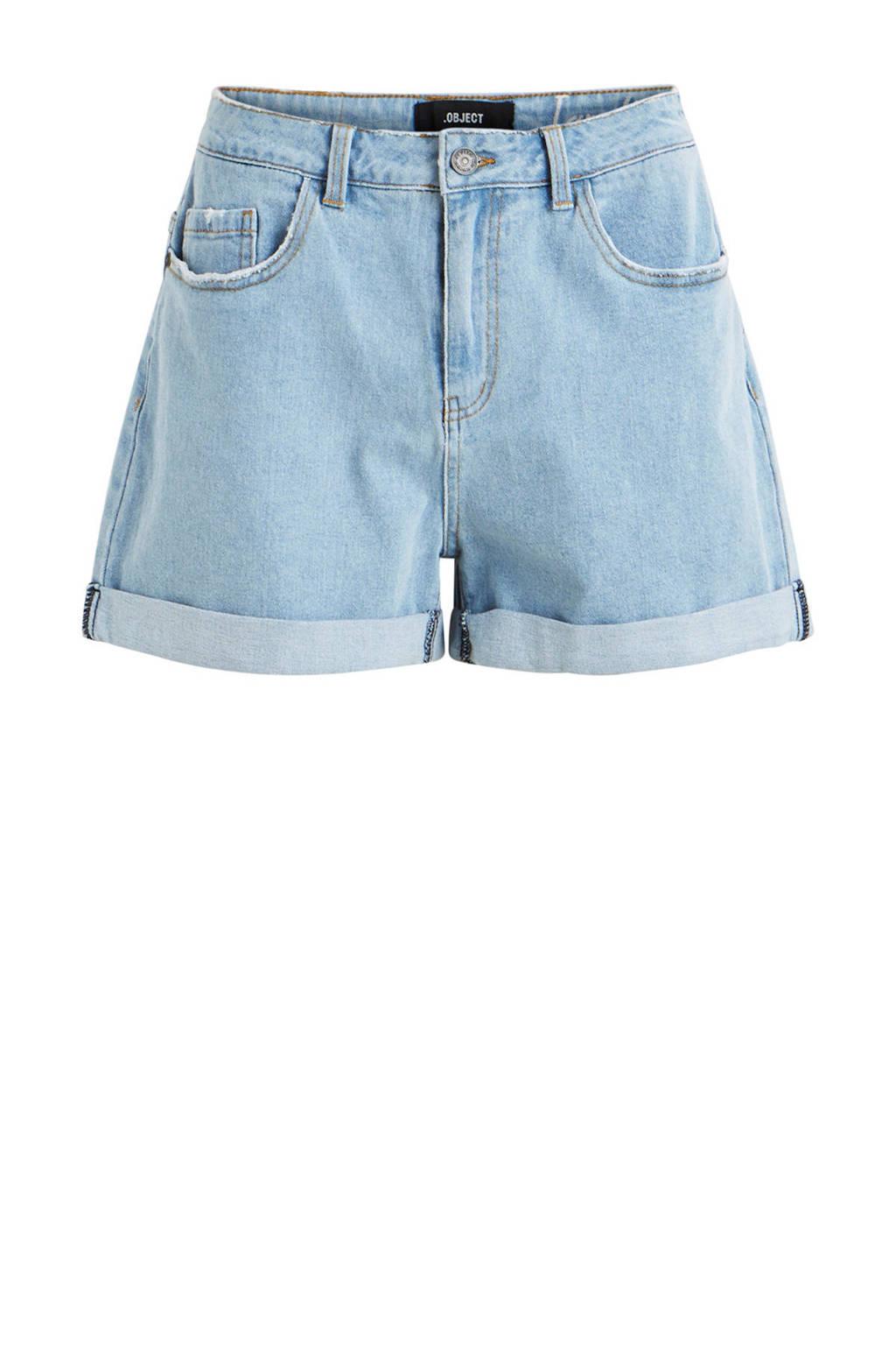 OBJECT jeans short lichtblauw, Lichtblauw