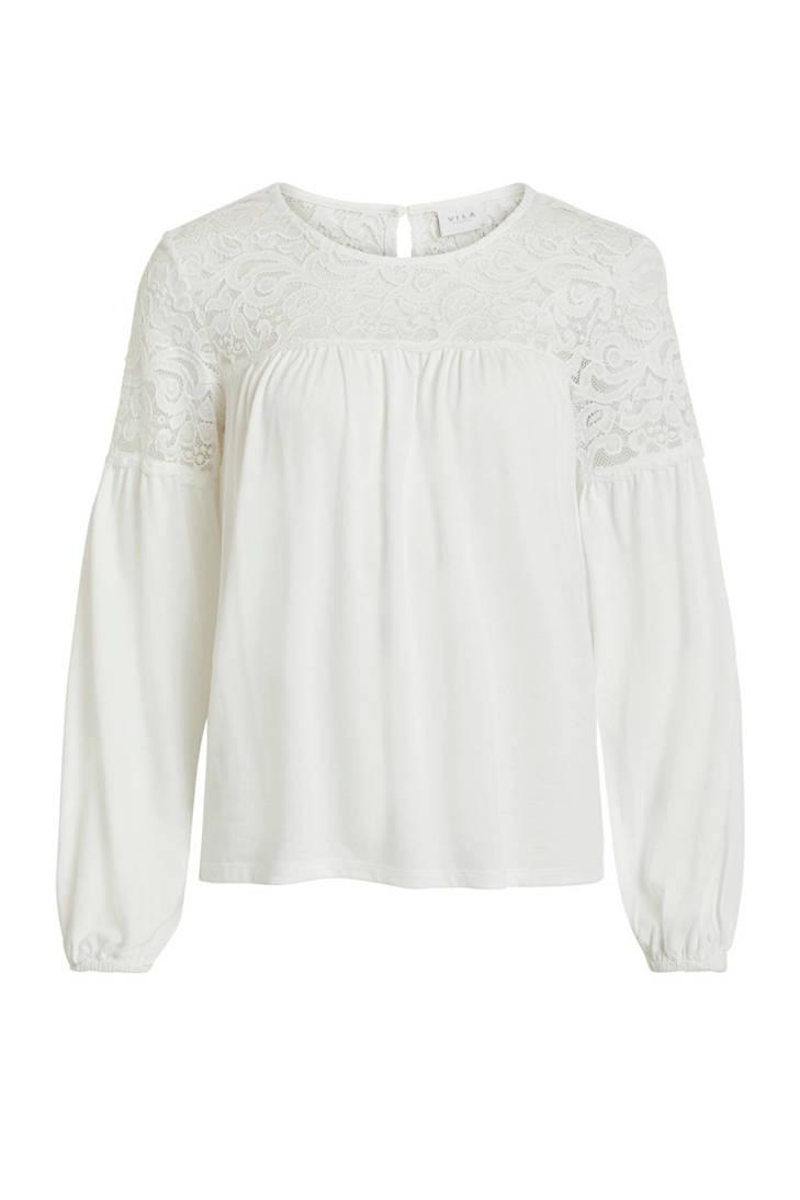 VILA met VILA details blouse met kanten blouse wEWB8Pq4