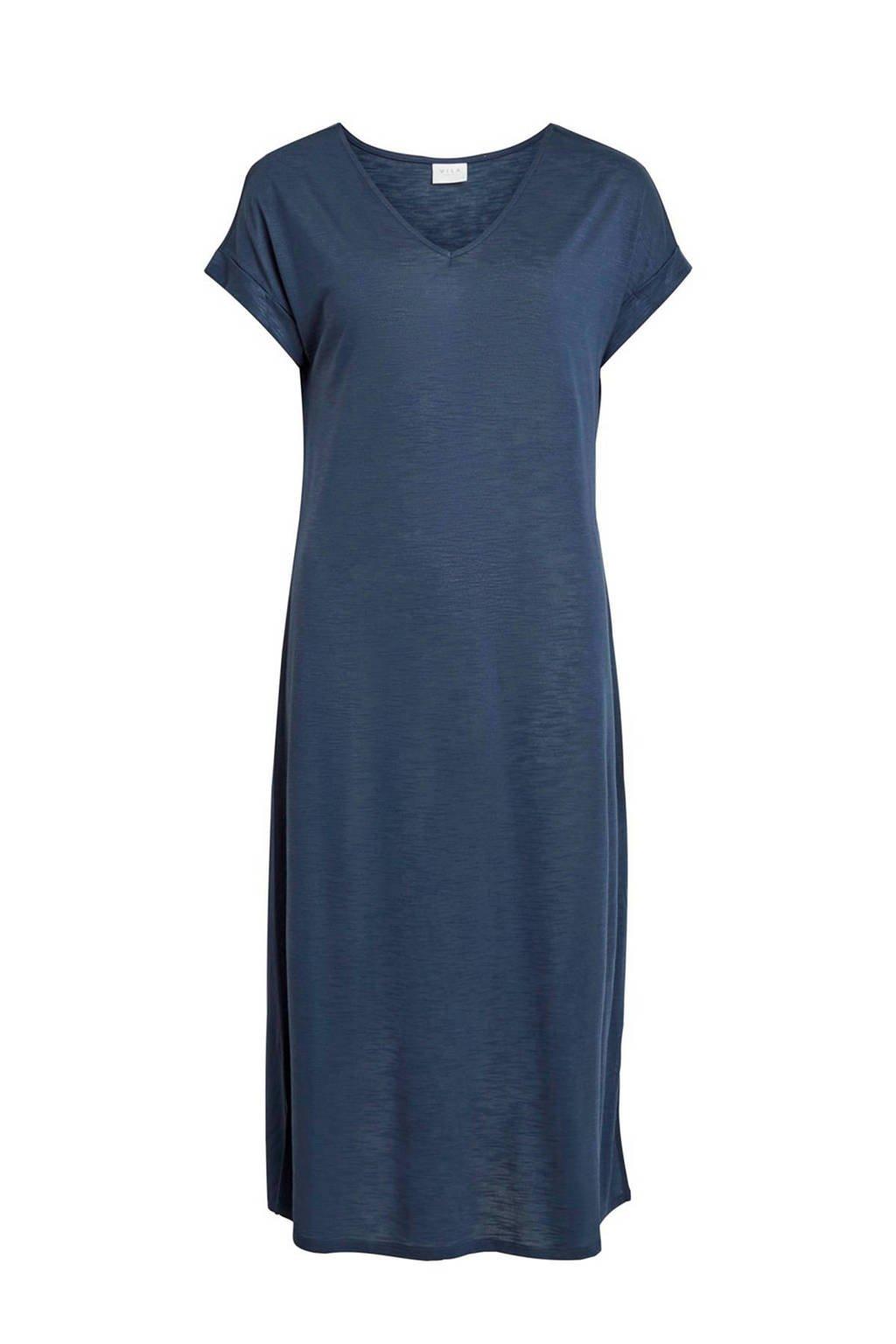 VILA jersey jurk, Donkerblauw