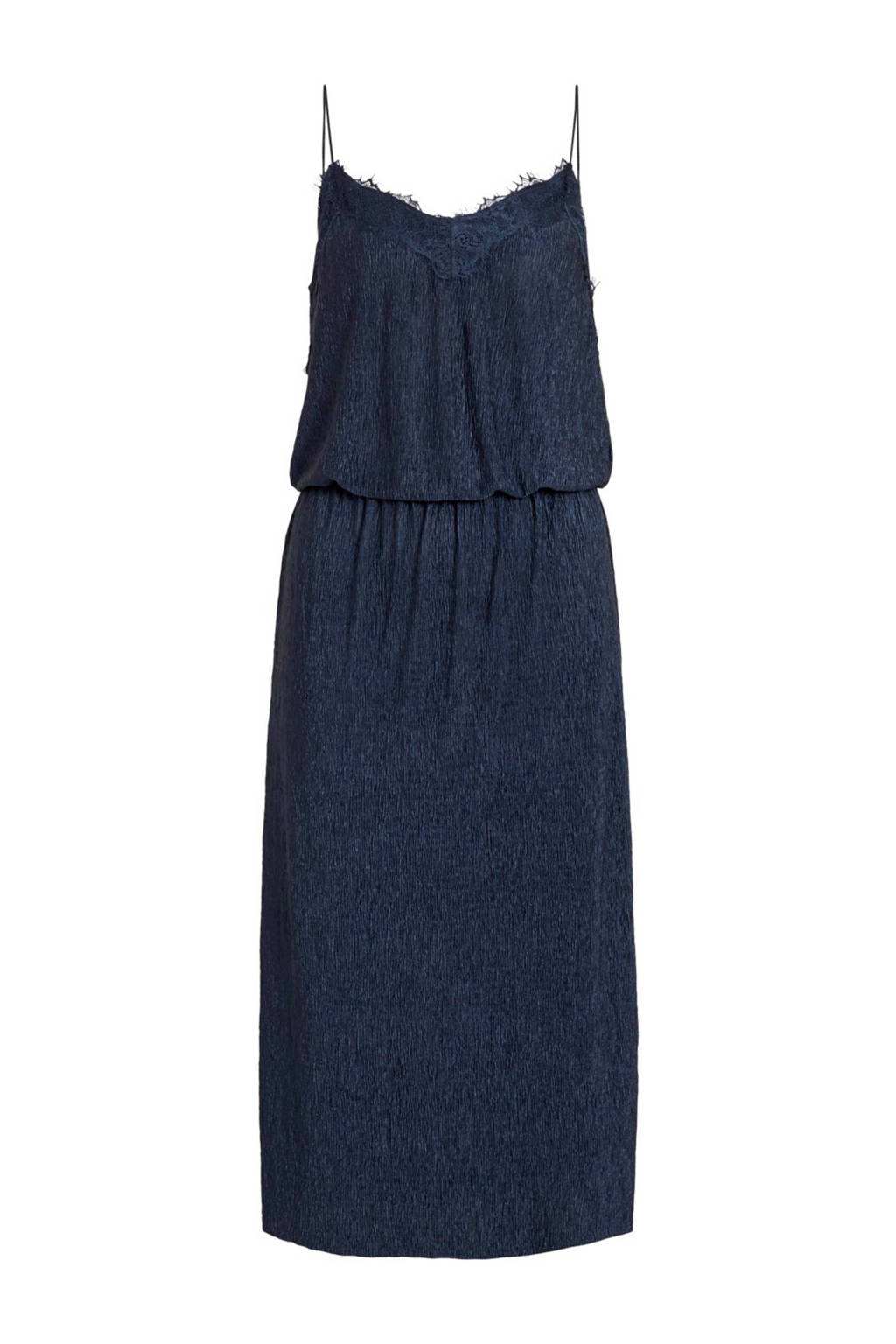 VILA jurk met kant blauw, Blauw