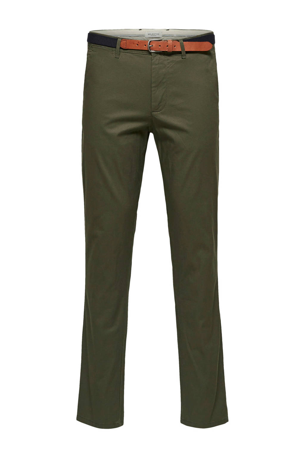 SELECTED HOMME slim fit chino, Donkergroen