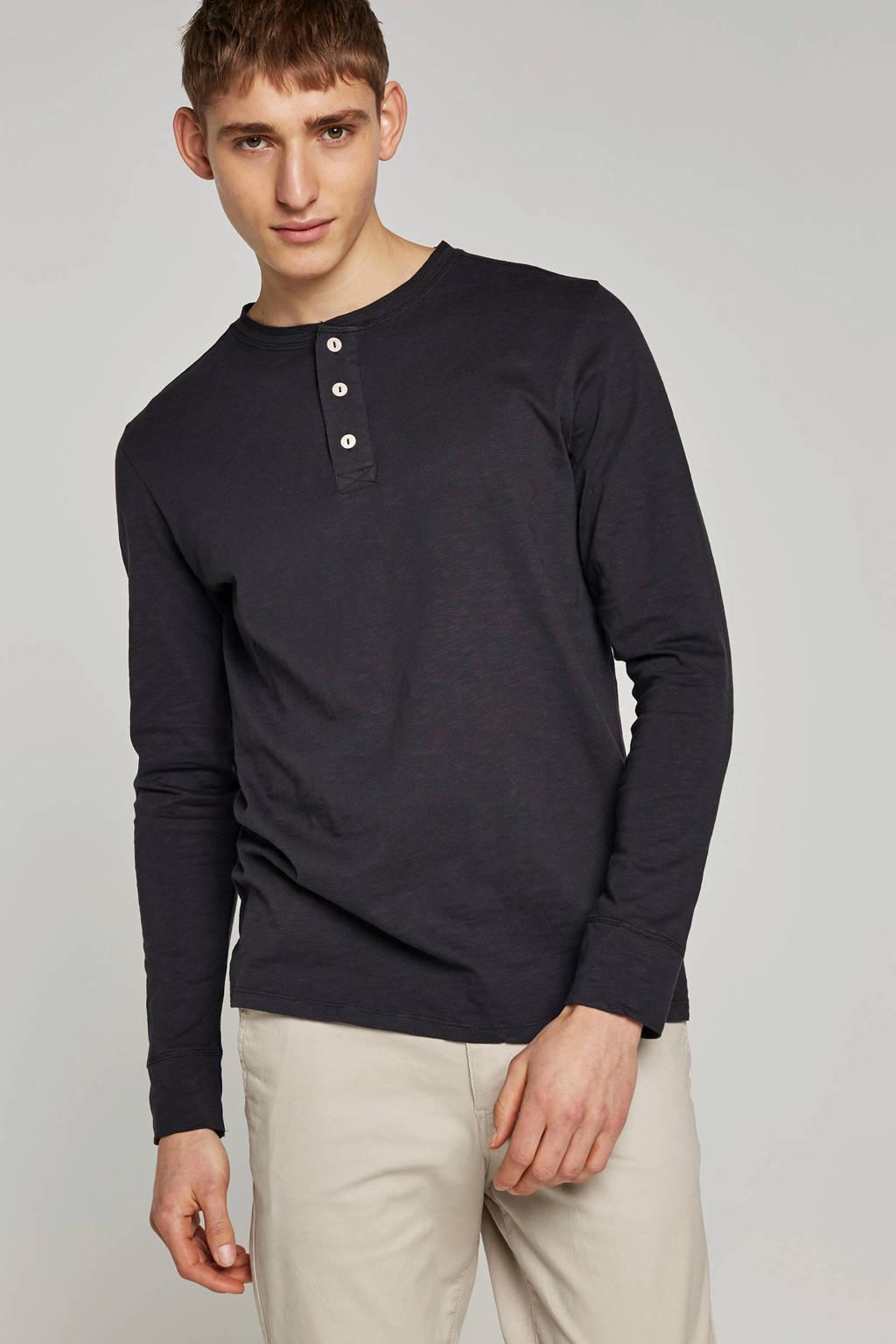SELECTED HOMME T-shirt lange mouw, Zwart