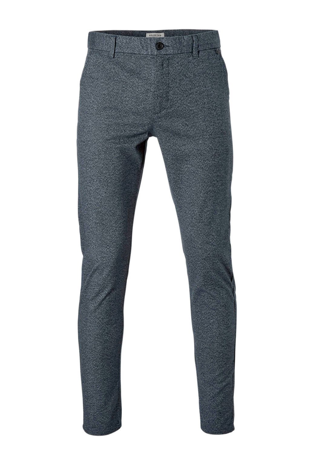SELECTED HOMME slim fit chino Arval, Grijsblauw