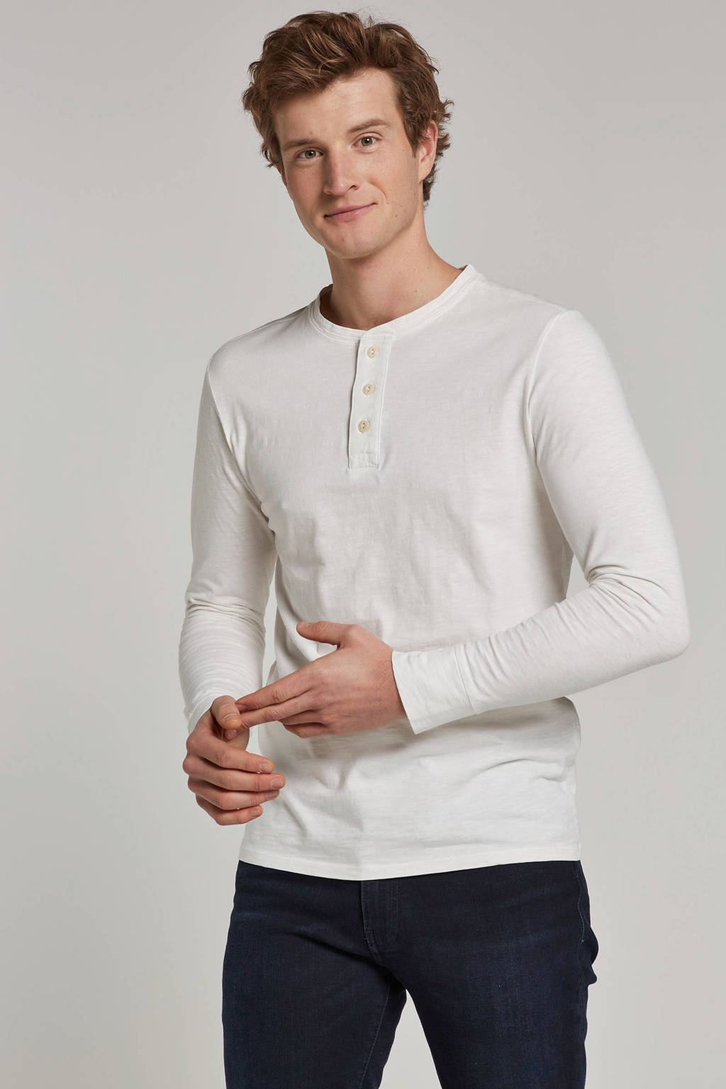 SELECTED HOMME t-shirt lange mouw, Wit