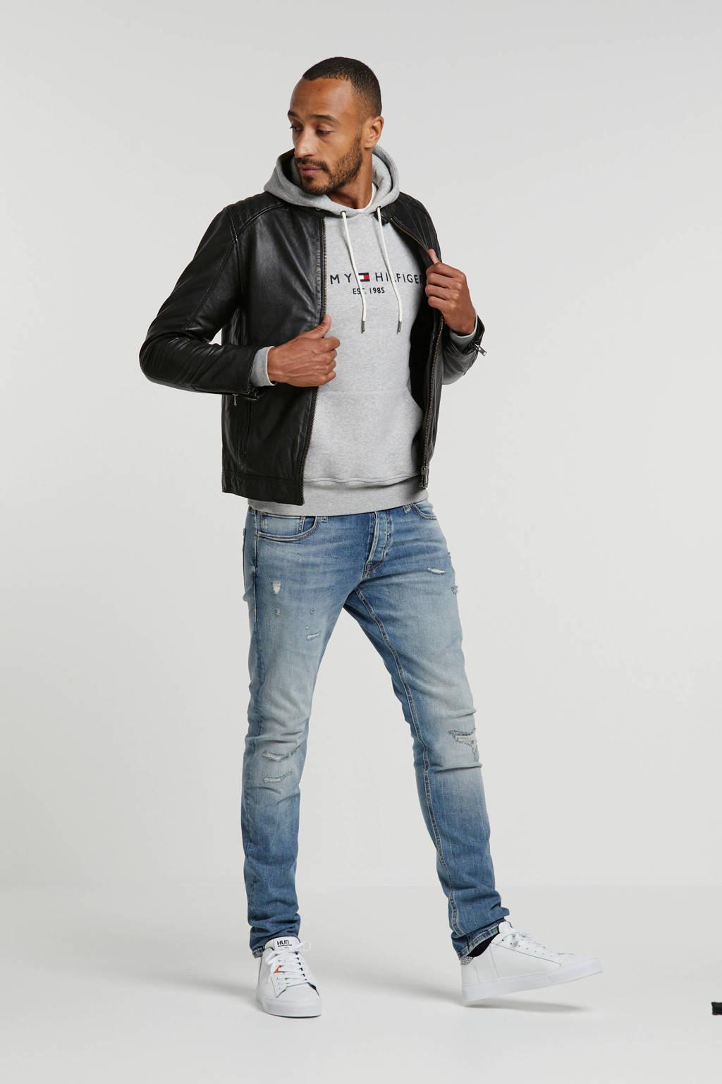 SELECTED HOMME leren jas, Zwart