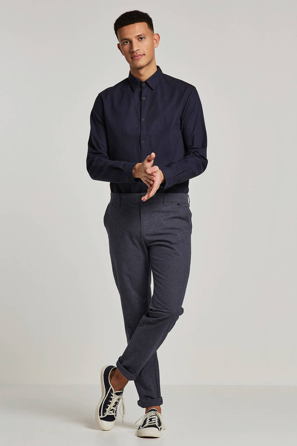 SELECTED HOMME slim fit chino Arval, Donkerblauw