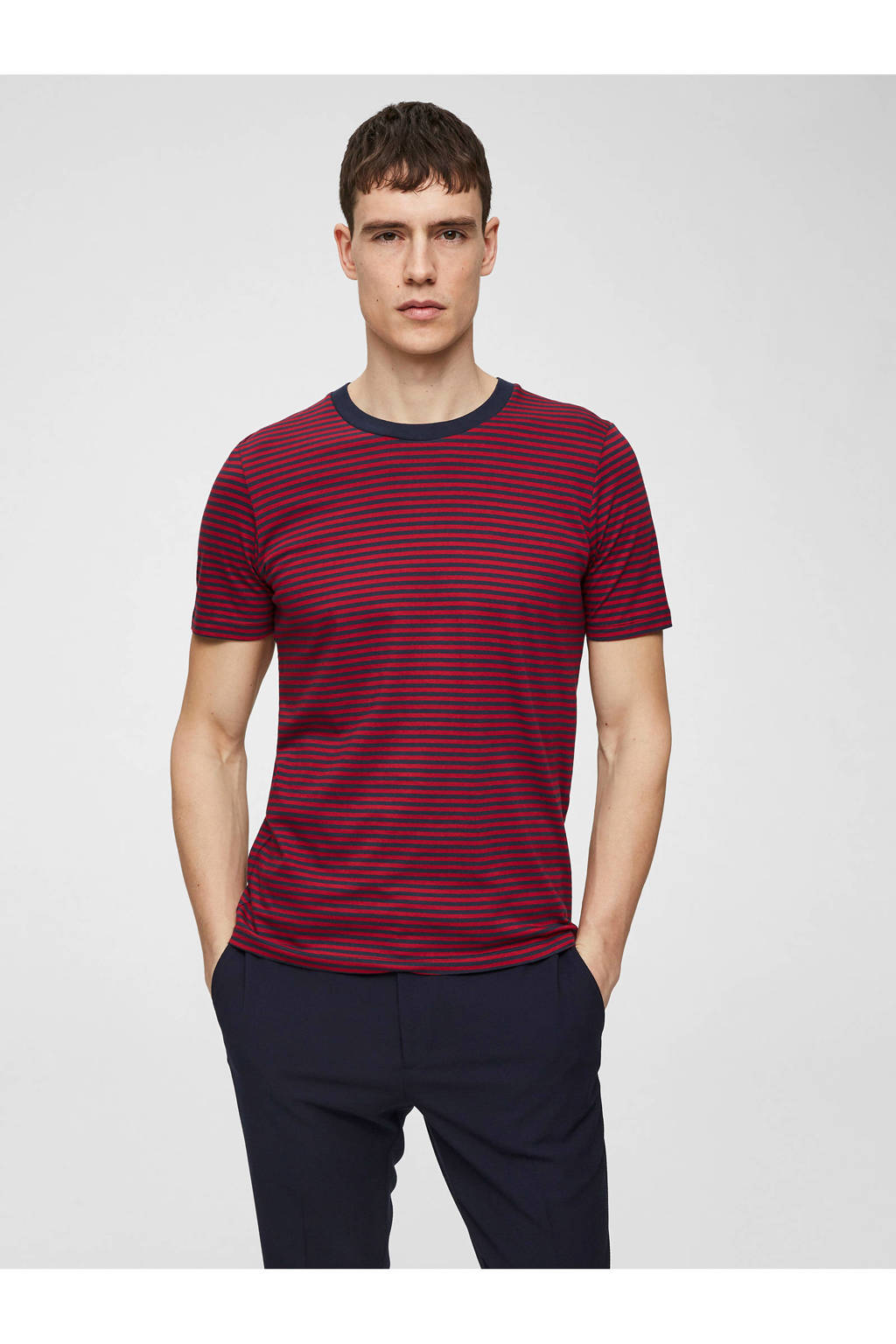 SELECTED HOMME T-shirt, Blauw/rood