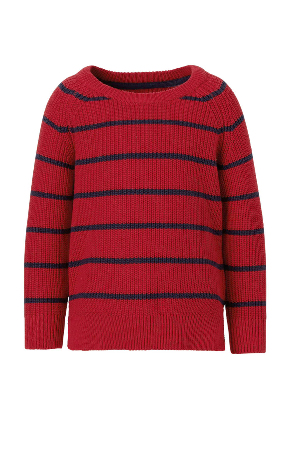 C&A Palomino gestreepte trui rood, Rood/donkerblauw