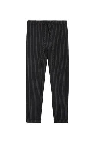 gevoerde straight fit pantalon streeppatroon
