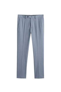 Mango Man slim fit pantalon lichtblauw (heren)