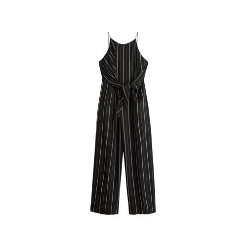 Mango jumpsuit met strikbandjes zwart kopen