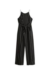 Mango jumpsuit met strikbandjes zwart (dames)