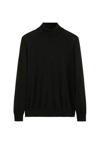 wollen trui met col zwart