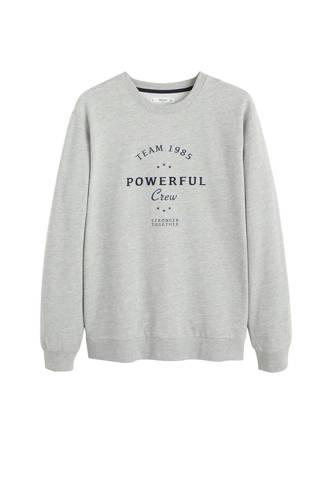 gemêleerde sweater met borduursel grijs
